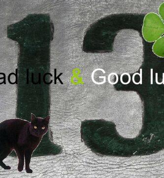 númer 13 y gato negro mala suerte