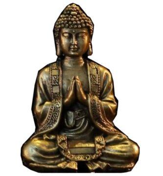 Buda fortuna meditación bronce