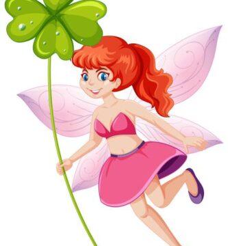 linda-hada-sosteniendo-personaje-dibujos-animados-trebol-suerte